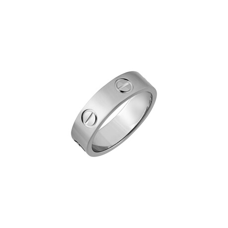 Cartier // 18k White Gold Love Ring // Ring Size: 5.75 // Pre-Owned