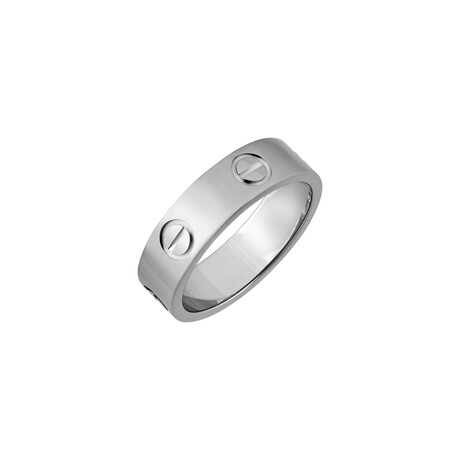 Cartier // 18k White Gold Love Ring // Ring Size: 6.25 // Pre-Owned