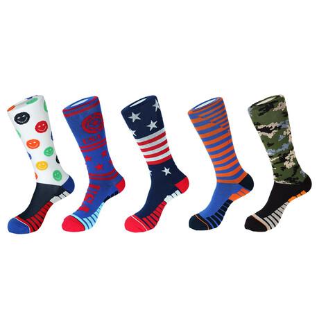 Portofino Athletic Socks // Pack of 5