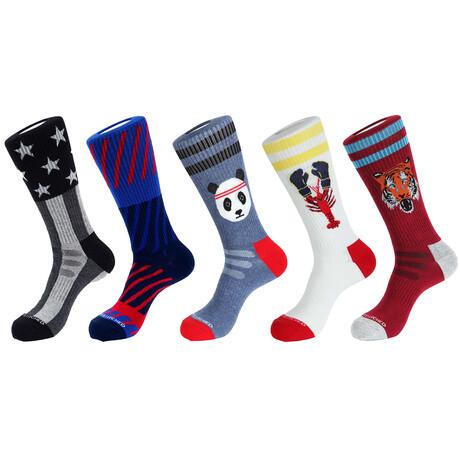 Yosemite Athletic Socks // Pack of 5
