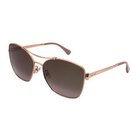 Jimmy Choo // Unisex KIMI-FS-BKU Square Sunglasses // Gold + Nude
