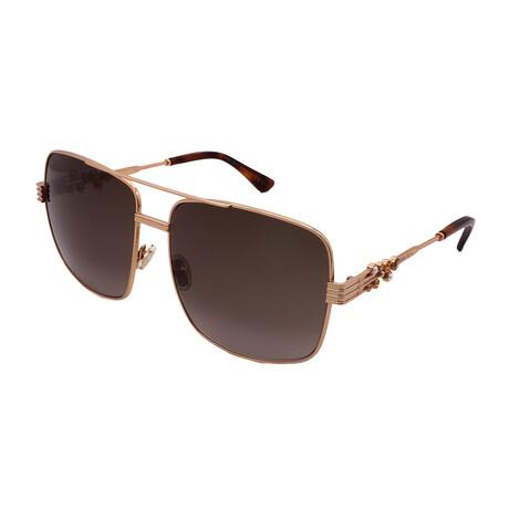 Jimmy Choo // Unisex TONIA-S-001Q Square Sunglasses // Gold