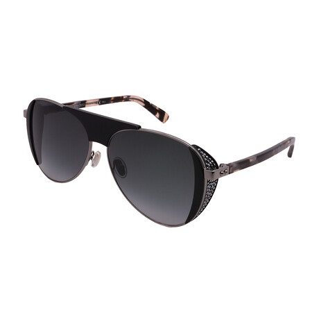 Jimmy Choo // Men's RAVE-S-807 Aviator Sunglasses // Dark Gray