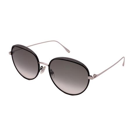 Jimmy Choo // Unisex ELLO-S-JIN Round Sunglasses // Black Palladium