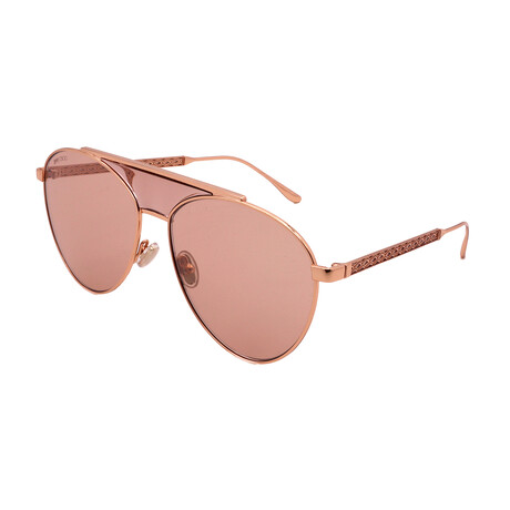 Jimmy Choo // Unisex AV--S-BKU Aviator Sunglasses // Pink