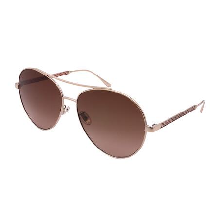 Jimmy Choo // Unisex NORIA-F-S-Y11 Aviator Sunglasses // Gold + Red
