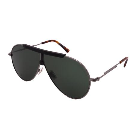 Jimmy Choo // Men's EDDY-S-EKP Aviator Sunglasses // Dark Ruthenium Havana