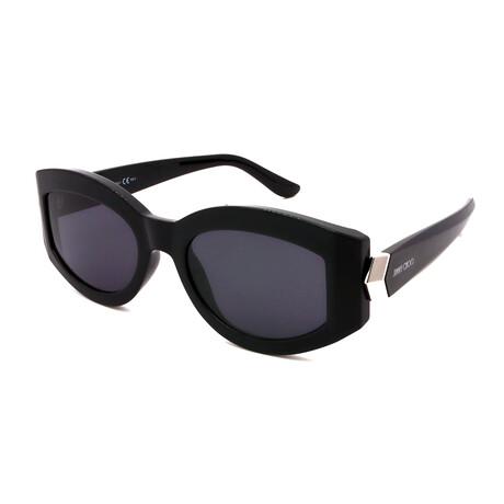 Jimmy Choo // Women's ROBYN-S-807 Oval Sunglasses // Black