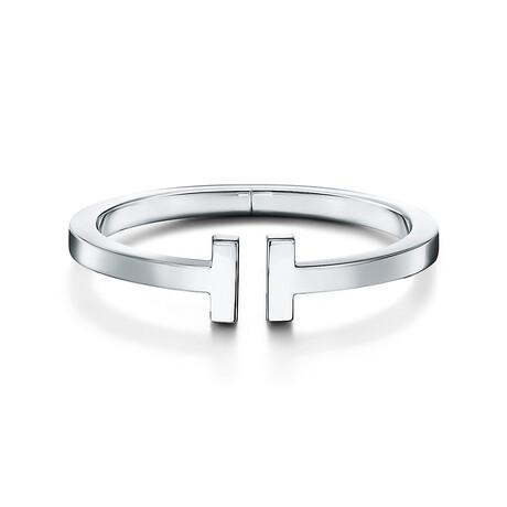 """Unisex Sterling Silver T Cuff Bracelet II // 6"""" // New"""