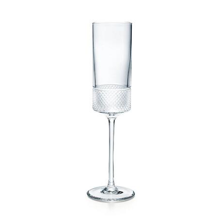 Diamond Point Champagne Flute // New
