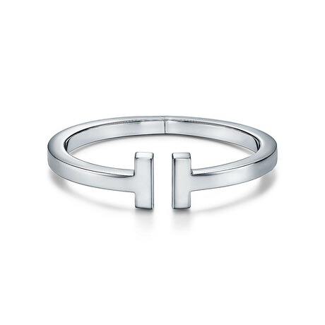 """Unisex Sterling Silver T Cuff Bracelet // 6.5"""" // New"""