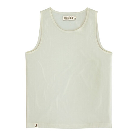 Recycled Jersey Tank Top + Logo // Oat (S)