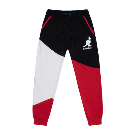 RBW Colorblock Fleece Jogger // Black Combo (S)