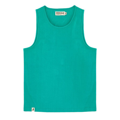 Recycled Jersey Tank Top + Logo // Green (S)
