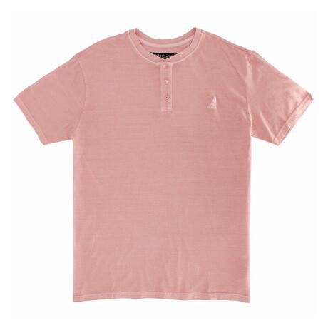 Pigment Dye Short Sleeve Henley Top // Murex Shell (S)