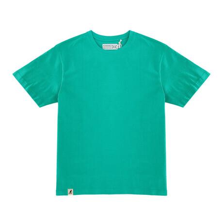 Recycled Jersey Tee Shirt + Logo // Green (S)
