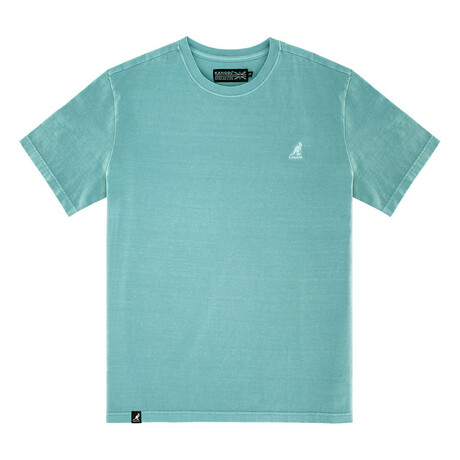 Pigment Dye Short Sleeve Tee // Mineral Blue (S)