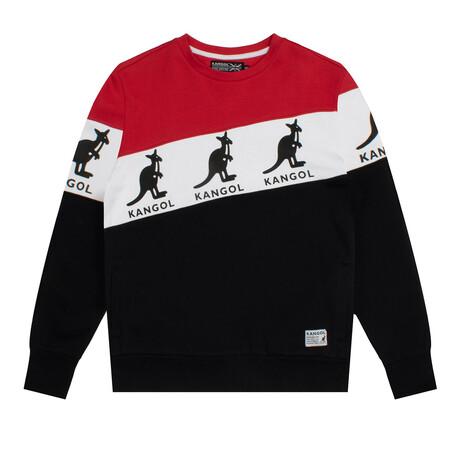 RBW Colorblock Long Sleeve Fleece Crewneck // Black Combo (S)