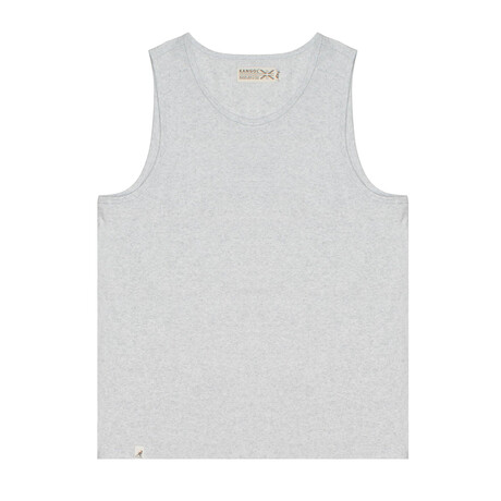 Recycled Jersey Tank Top + Logo // Ash Gray (S)
