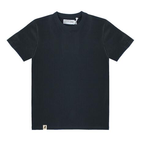 Recycled Jersey Tee Shirt + Logo // Black (S)