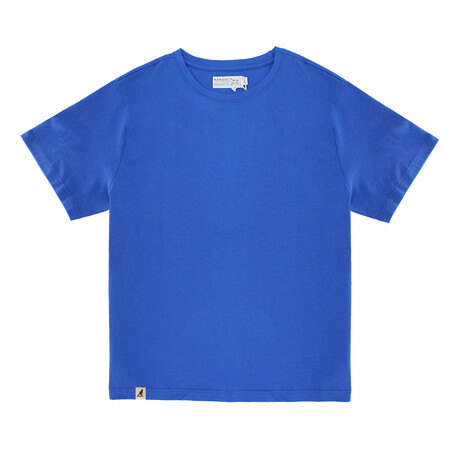 Recycled Jersey Tee Shirt + Logo // Heather Royal (S)