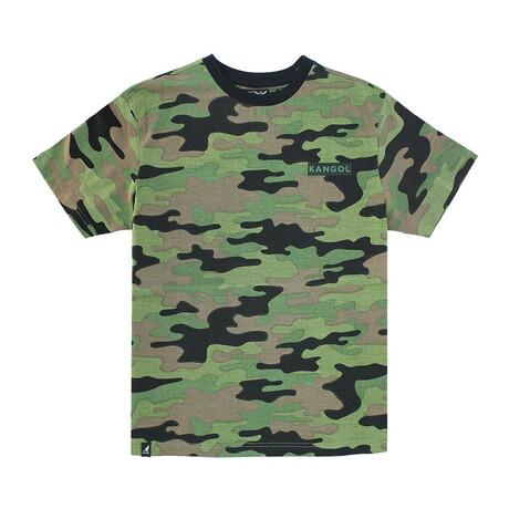 Camouflage Crewneck Tee + Print // Army (S)