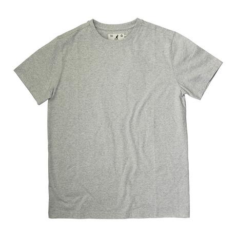 Recycled Jersey Tee Shirt + Logo // Ash Gray (S)