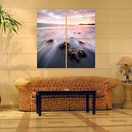 Tide At Sunset in 4 Panels