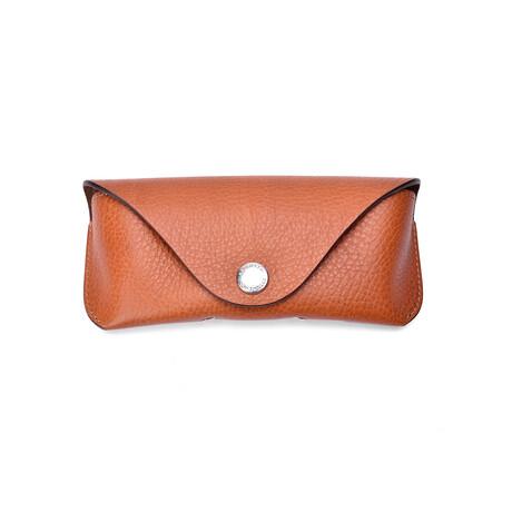 Brunello Cucinelli // Leather Eye Glass Case // Brown
