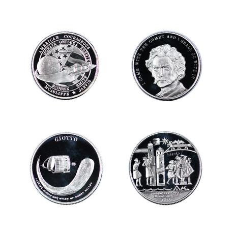 Halley's Comet // 4-Piece Commemorative Silver Medal Collection