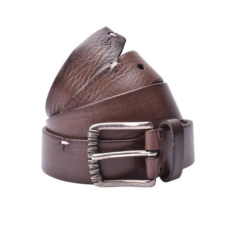 """Brunello Cucinelli // Leather Belt // Brown (35"""")"""