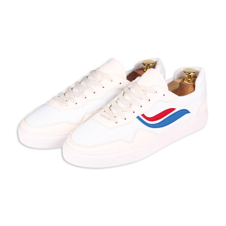 G-Soley Mesh // White + Red + Blue (Size 36)