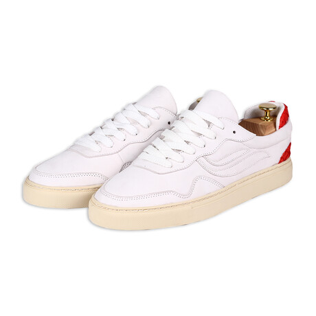 G-Soley Nubuck Fish // Off White + Red (Size 36)