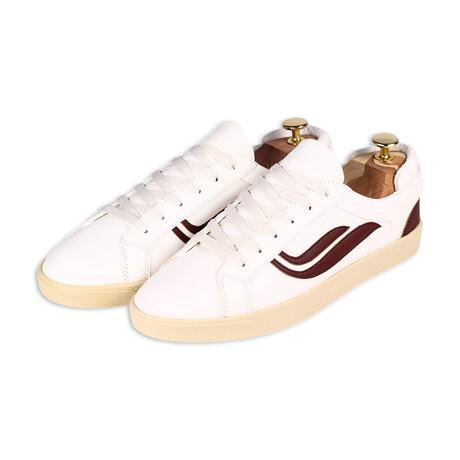 G-Helà Leather // White + Mahogany (Size 36)