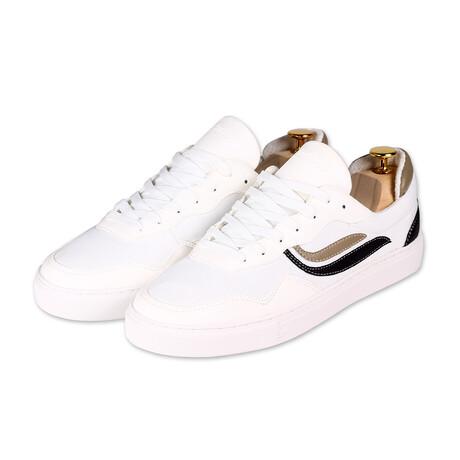 G-Soley Mesh // White + Khaki + Black (Size 36)