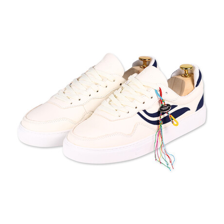 G-Soley // White + Navy (Size 36)
