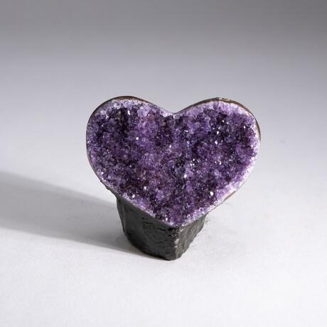 Genuine Amethyst Geode Heart // V1