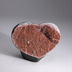 Genuine Ametrine Geode Heart