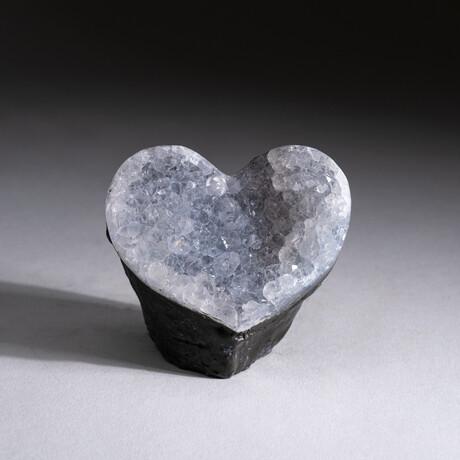 Genuine Quartz Geode Heart
