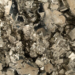 Genuine Polished Pyrite Heart + Acrylic Display Stand // V3