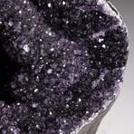 Genuine Amethyst Geode Heart // V2
