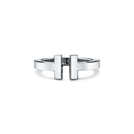Unisex Sterling Silver T Cuff Ring // Ring Size: 7 // New