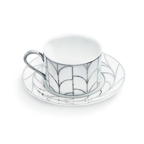 Wheat Leaf Cup + Saucer Set // Set of 1 // New