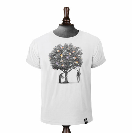 Money Tree T-shirt // Vintage White (XS)