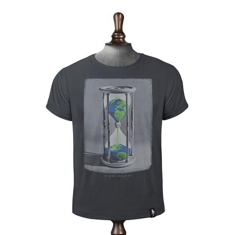 Hourglass Earth T-Shirt // Charcoal (XS)