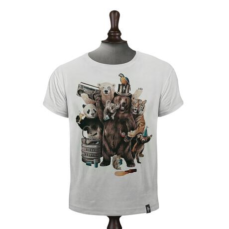 Party Animals T-Shirt // Vintage White (XS)
