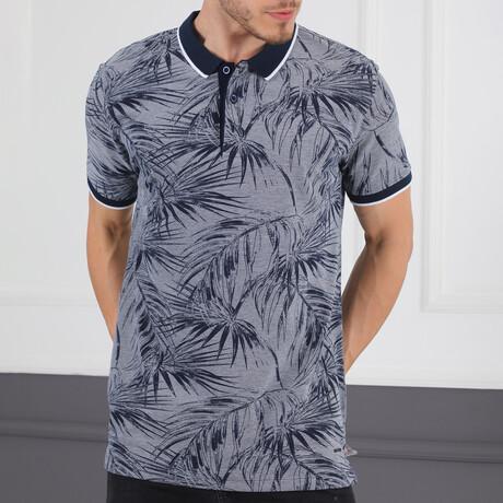 Palm Rise T-Shirt // Dark Blue + White (Small)