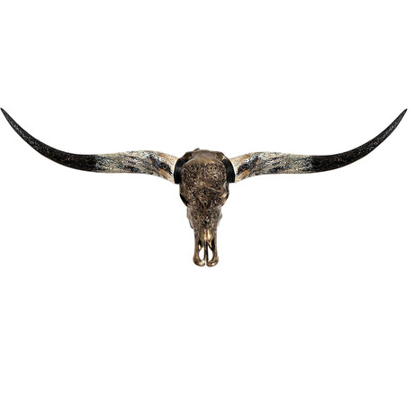 Carved Horns Longhorn Skull // Predator // Metallic Finish