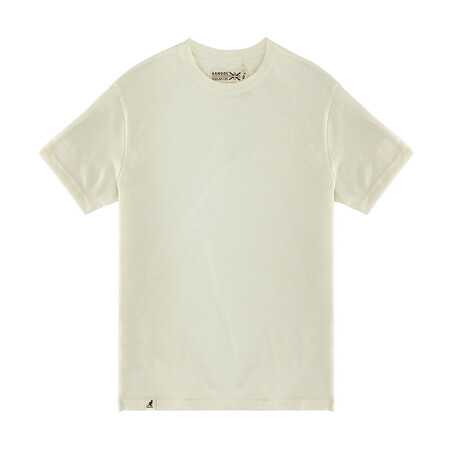 Recycled Jersey Tee Shirt + Logo // Oat (S)