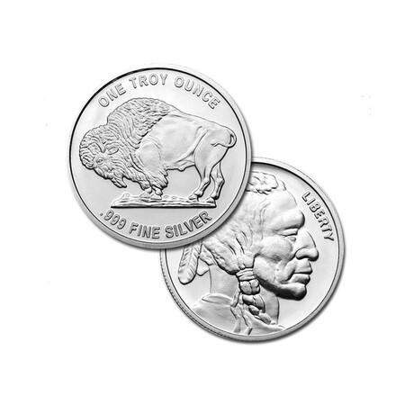 1 oz Silver Round - Buffalo Design // Deluxe Collector's Pouch